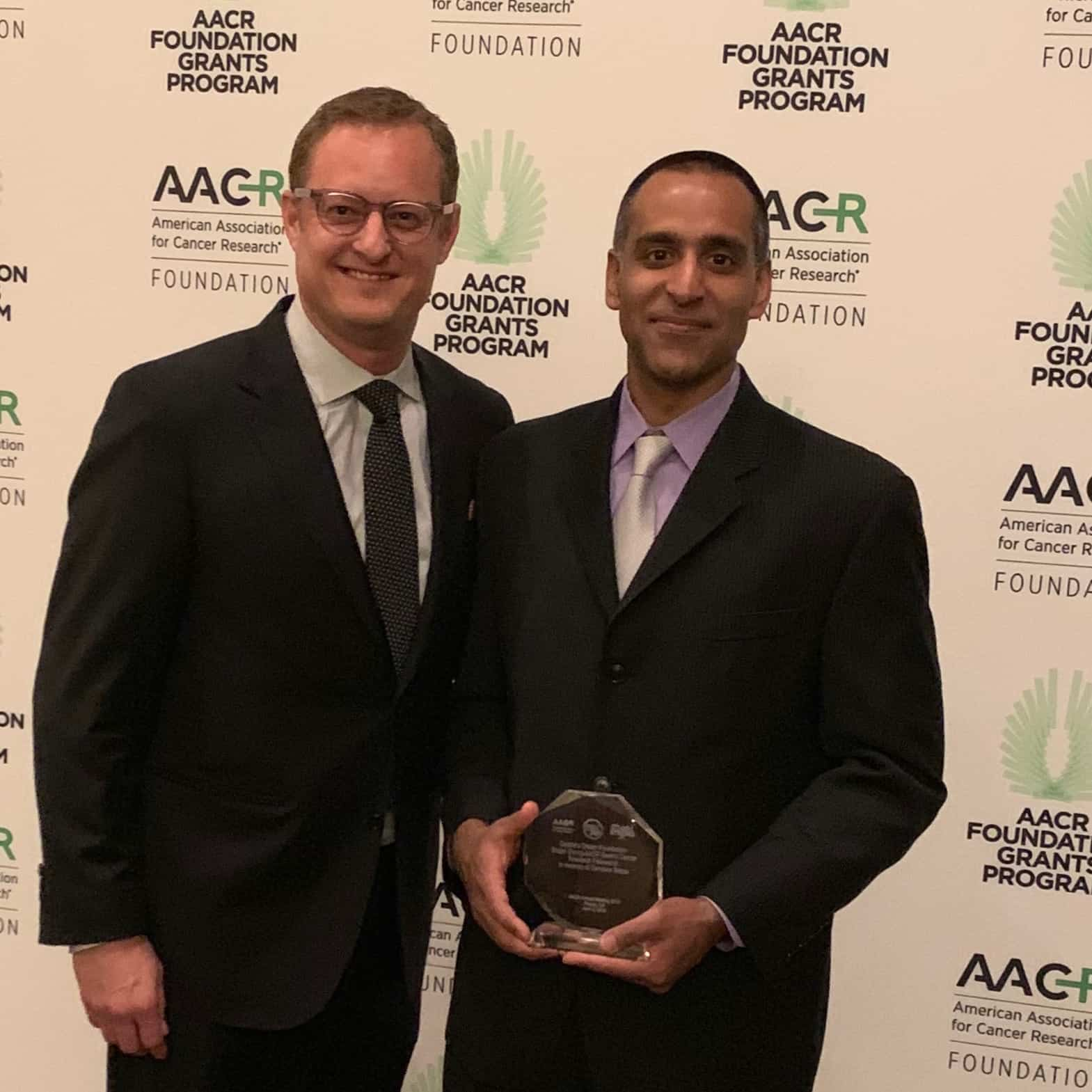 Jeff Netzer and AACR Foundation Grants Program Awardee Dr. Ankur Nagaraja, PhD.