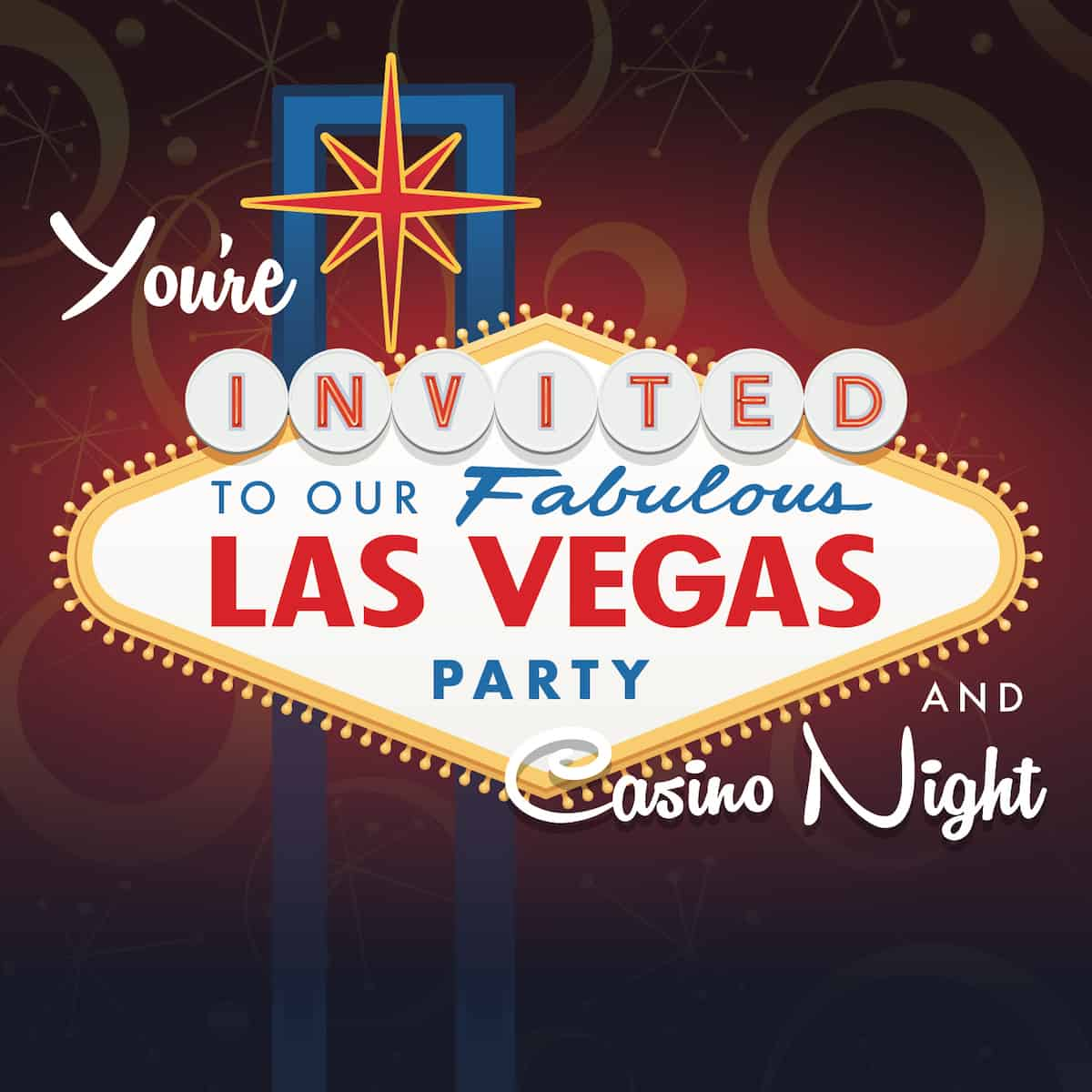 vegas party banner